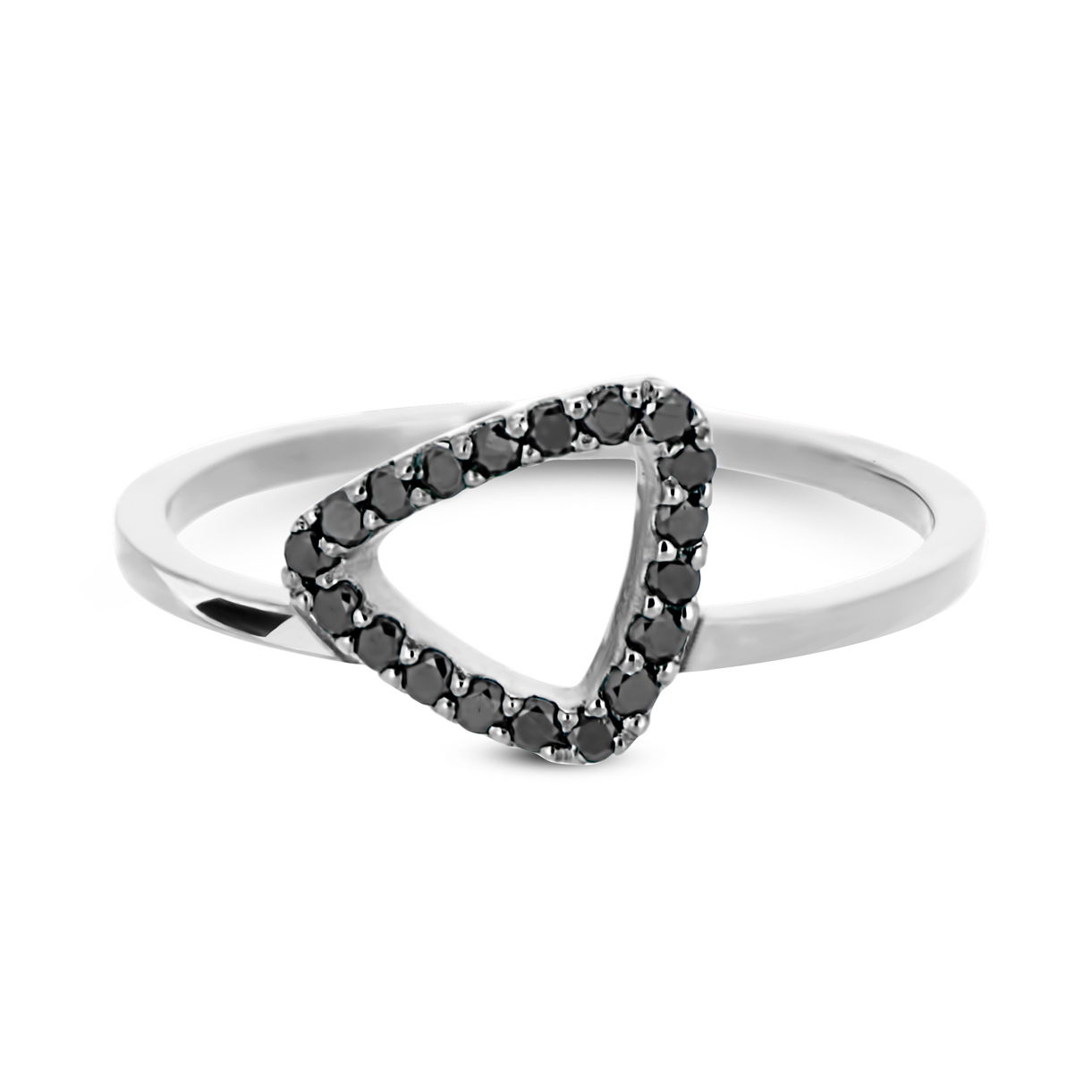 f9d4adc1d74 White Gold Black Diamond Mini Pebble Ring - Adina Jozsef
